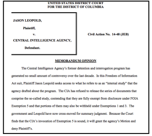 """Because the Court finds that the CIA's invocation of Exemption 5 is sound, it will grant the agency's Motion and deny Plaintiff's."""