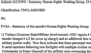 """INFO – Summary Human Rights Working Group, 15 OCT."" U.S. Northern Command, report, Unclassified, 2 pp."