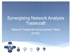 Synergising Network Analysis Tradecraft: Network Tradecraft Advancement Team