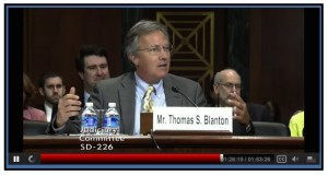 Archive director Tom Blanton testifies before the Senate Judiciary on May 6, 2015.