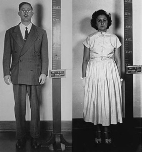 Police photos of Julius and Ethel Rosenberg (Source: Exhibits from the Julius and Ethel Rosenberg Case File, 03/13/1951 - 03/27/1951)