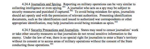 Journalists as Spying...page 175.