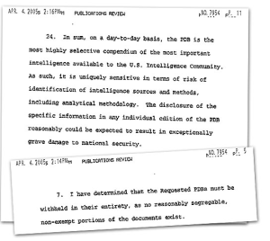 The CIAs 2007 arguments for withholding the PDBs in full.