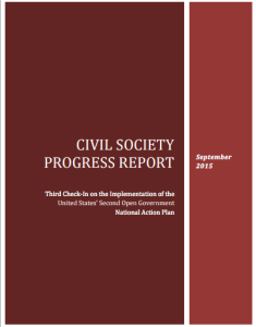 Civil Society Progress Report.