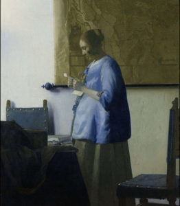 Vermeer, Johannes - Woman reading a letter - ca. 1662-1663 - back at the National Gallery of Art until December 1.