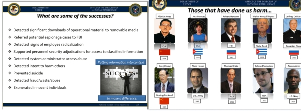 Somewhat contradictory slides from ODNI.