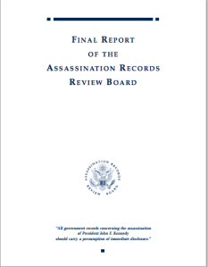 The final report of the Assassination Records Review Board.