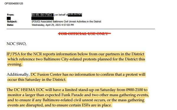 The Funk Parade has made DHS's radar.