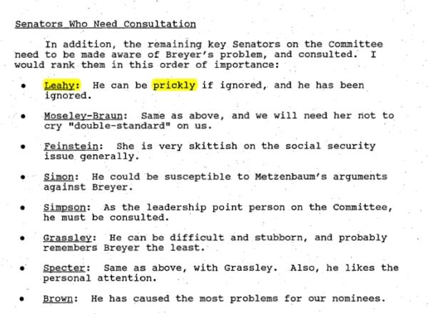 """Prickly"" Senator Leahy. Still FOIA's staunchest defender."