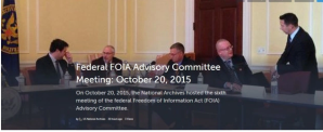 FOIA Advisory Committee members gather for the October 20 meeting.