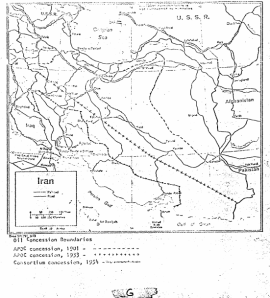 "Map from the CIAs ""Battle for Iran"", which contains what is believed to be the CIA's first formal acknowledgement that the agency helped to plan and execute the coup."