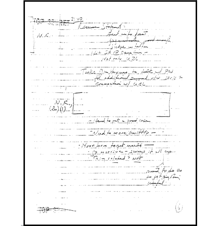 unredacted page 42 Interim Administrator Resume u s department of defense office of the under secretary for policy notes from stephen cambone