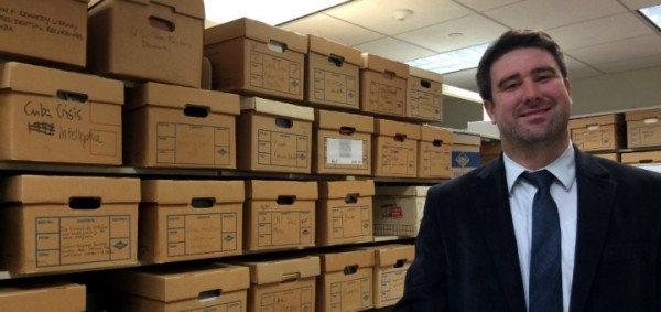 "Archive FOIA Project Director Nate Jones in ""the Vault""."