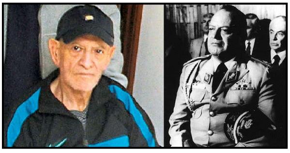 Oscar Mejía Víctores in 2011 L Photo credit: Prensa Libre/EFE, and in 1983.