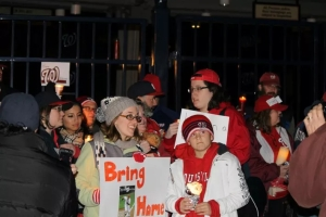 Washington Nationals fans gather for a vigil at Nationals Park on xxxx. Courtesy SB Nation.