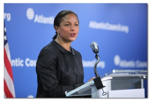 National Security Advisor Susan Rice announcing President Obama's special declassification on Argentina, March 17, 2016 (Photo courtesy of Atlantic Council/Victoria Langton).