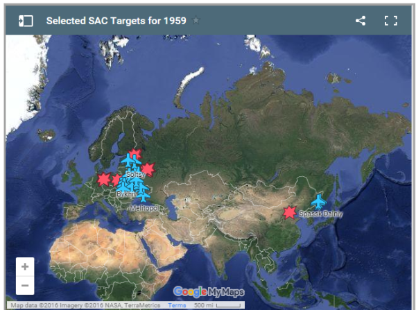 Key Targets for SAC Forces.