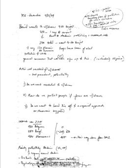 Susan Rice Handwritten Notes