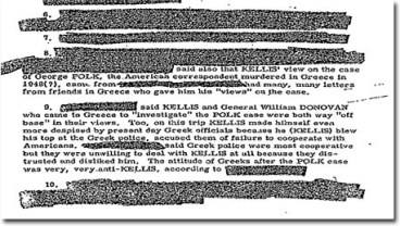 "The original, unredacted version of this memorandum concerning James L. Kellis, an intelligence officer who worked for the Lippman Committee, was among those destroyed by CIA in ""accordance with approved [NARA] records schedules."""