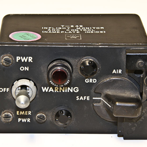 The T-249 switch used to arm nuclear bombs on Strategic Air Command bomber aircraft. Photo courtesy of Glenn's Computer Museum