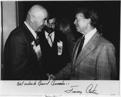 Jimmy Carter meets prominent Soviet dissident General Pyotr Grigorenko, September 20, 1978.