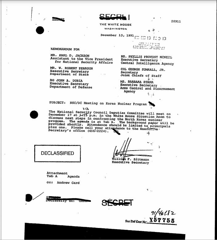 Briefing Book, Deputies Committee Meeting, Ca. 12/13/1991 (Secret)  1991 12 13