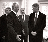 Clinton stoder jeltsin