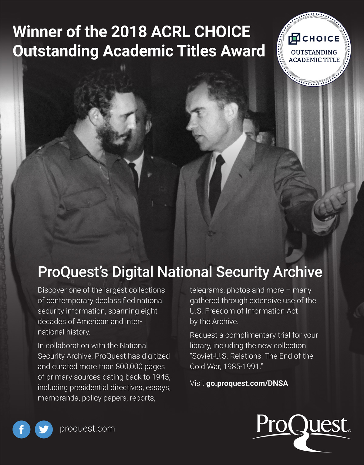 """Choice Magazine, the publishing arm of the Association of College &  Research Libraries (ACRL), has named the Digital National Security Archive  an """" ..."""